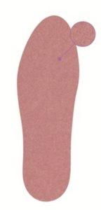 Стельки из замшевого текстиля на гелевой основе PGEL 0002