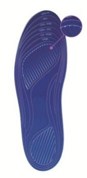 Стельки из замшевого текстиля на гелевой основе TGEL 0222