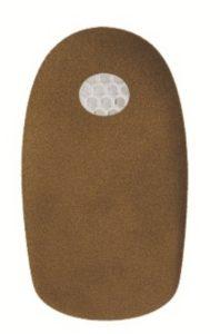 Гелевый подпяточник с покрытием из замшевого текстиля TGEL 3212