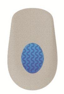 Гелевый подпяточник с покрытием из замшевого текстиля TGEL 3215